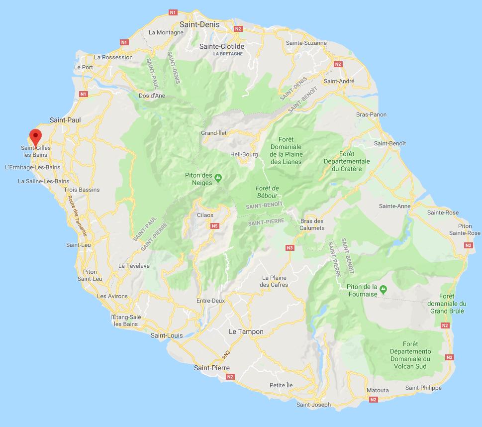 carte île de la Réunion : où habiter